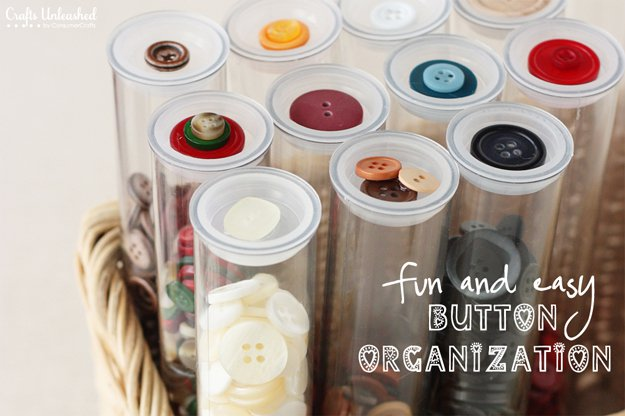 15-Awesome-DIY-Uses-for-Pill-Bottles-Button-Organization