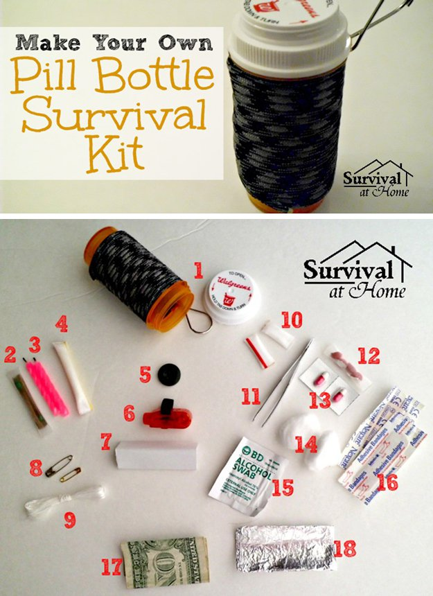 15-Awesome-DIY-Uses-for-Pill-Bottles-Survival-Kit